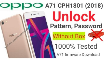 Oppo A71 CPH1717 Hard reset Pattern Password Lock Remove 100