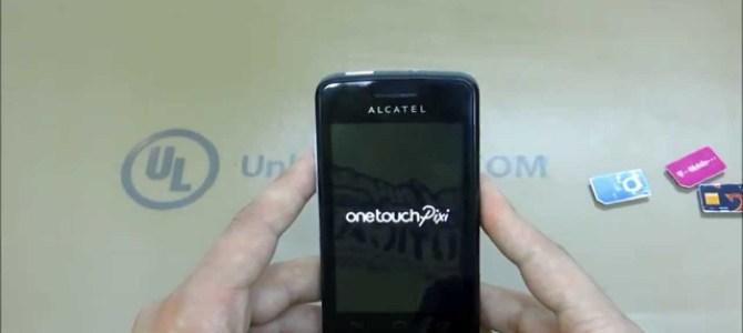 How To Unlock Alcatel One Touch PIXI (OT-4007, OT-4007A, OT-4007X, OT-4007D and OT-4007E) by unlock code.