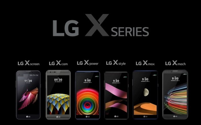 LG X Screen, X Cam, X Power, X Style, X Mach and X Max