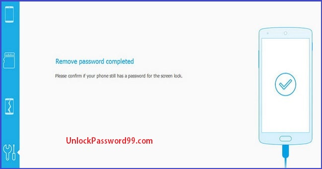 Remove password completed