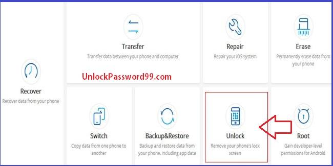 Android Data Unlock option