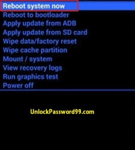 Hard Reset Reboot option