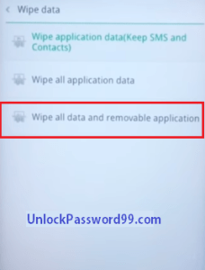 Oppo Wipe all data Option