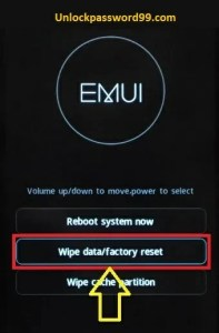 wipe data factory reset option