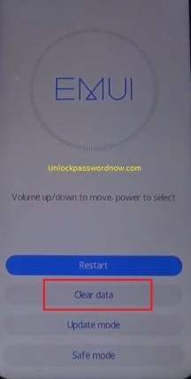 Huawei Phone mobile Hard Reset - Clear data option