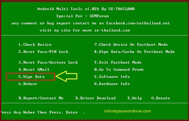 Nokia Phone wipe data with Android Multi Tools