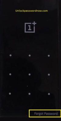 Oneplus mobile Hard Reset - Forgot password option