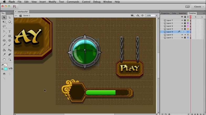 Learn to create GUI of the games