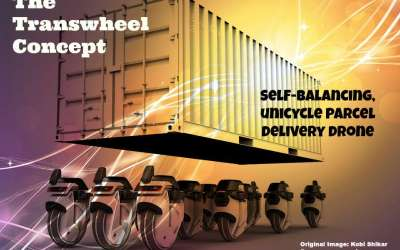 Self-balancing Unicycle Parcel Delivery Drones – The Transwheel Concept