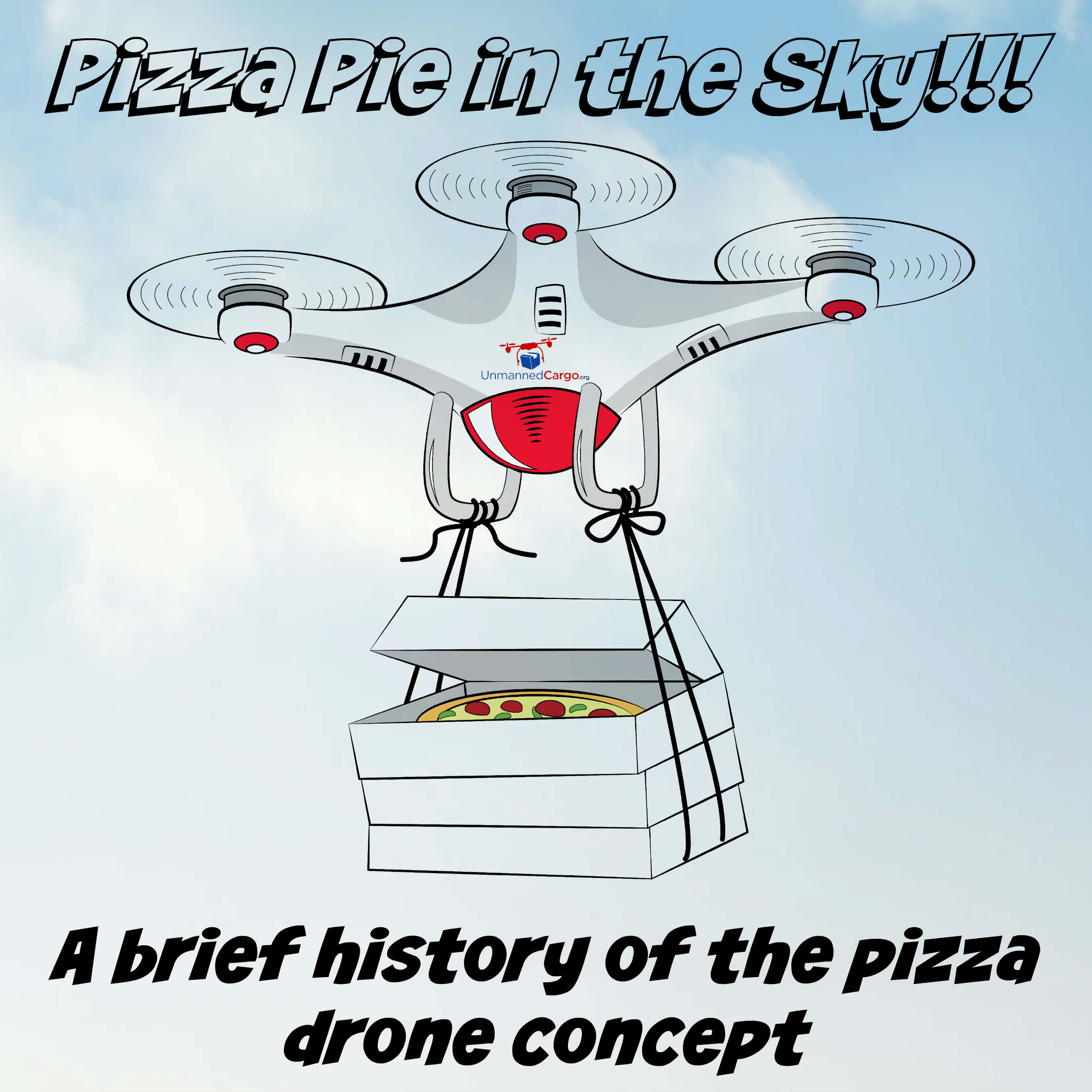 Drones to deliver pizza - Unmannedcargo.org