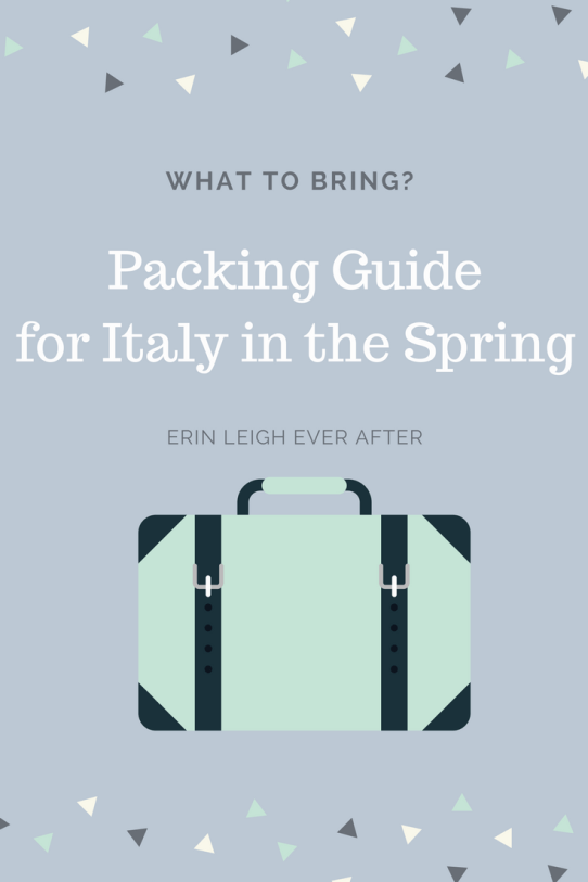 what to pack when visiting Italy in the spring
