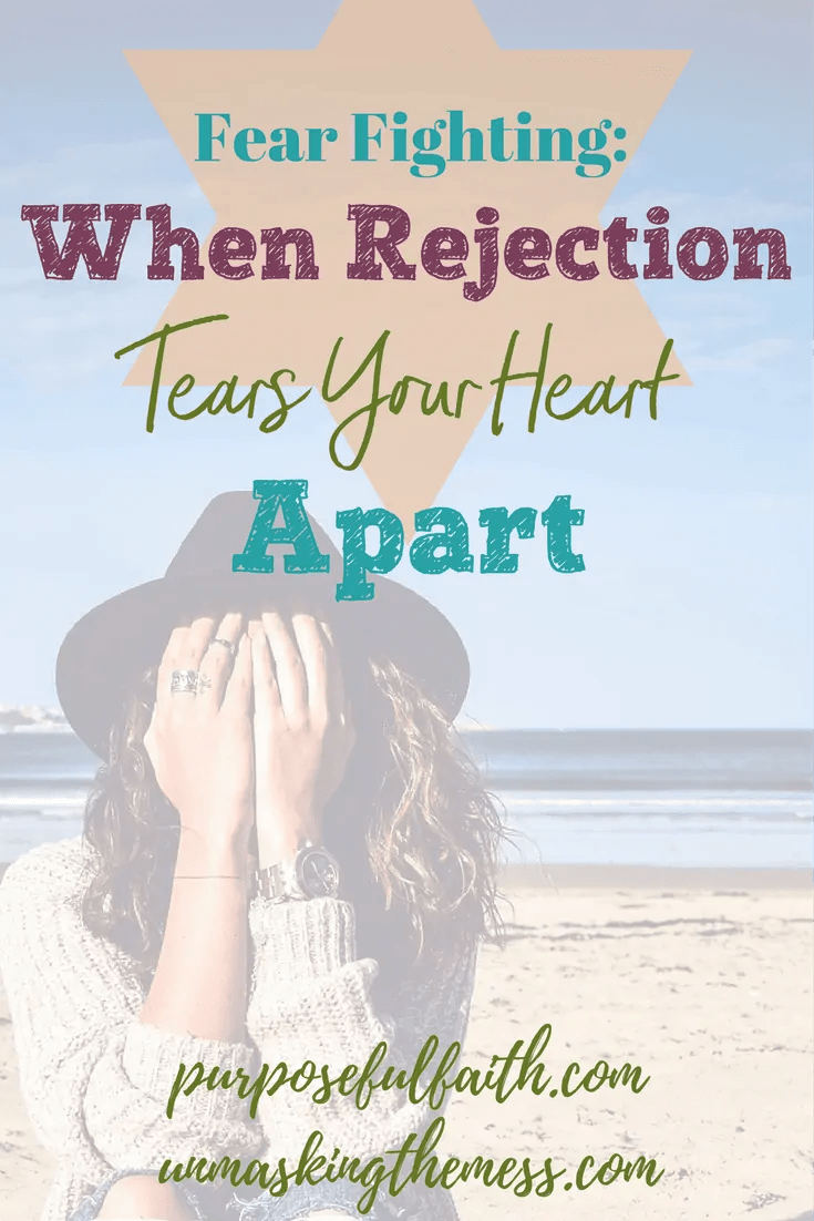 Fear Fighting: When Rejection Tears Your Heart Apart. Tips and Bible verses to help you with fear. Kelly's new book. Fear, anxiety and God.
