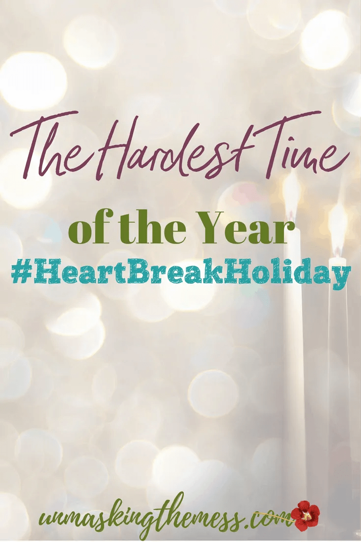 The Hardest Time of the Year #HeartBreakHoliday. HeartBreak Holiday. Series about lonely hearts this Christmas. For many there is pain, grief, loss of loved ones. Memories, thoughts, and remembrance can make life hard during this time.