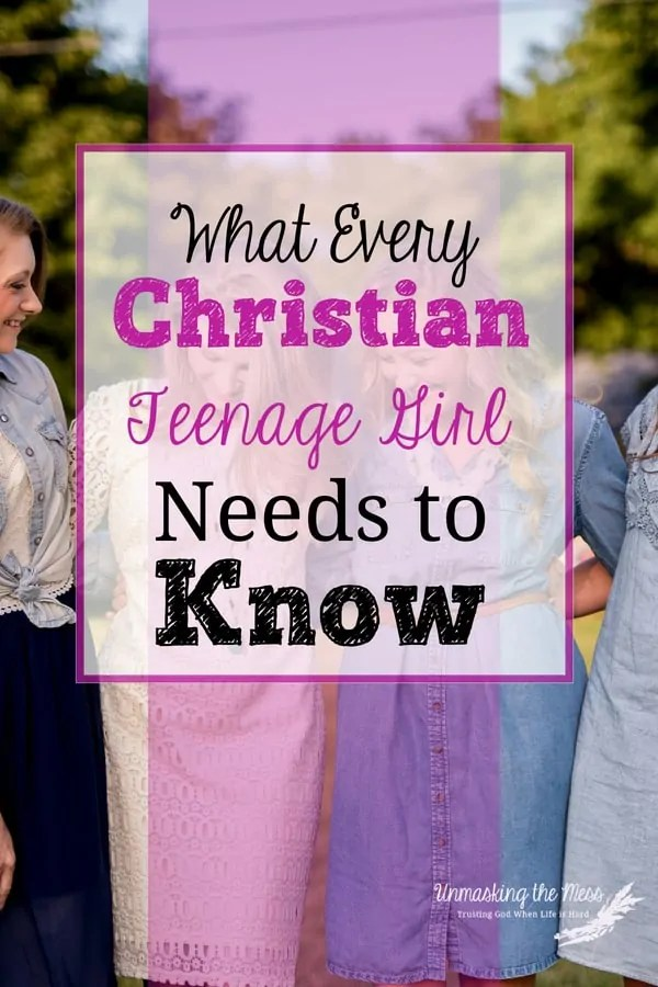 What Every Christian Teenage Girl Needs to Know. Being rooted in Christ, our teenage girls can weather what comes their way because they know who measures their worth. Our girls don't need to prove their worth or chase after things to fill them because God can give them everything they need. #Christianteenagegirl #leadingkidstoChrist #bibleverses #truths #faith