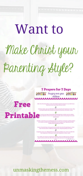 Want to be a Great Parent? Make Christ your Parenting Style. What I've learned is as long as I'm spending daily time with God and asking Him to lead me as a mother, my parenting style will be uniquely mine and for the good of my kids. #christianparenting #parenting #Christ
