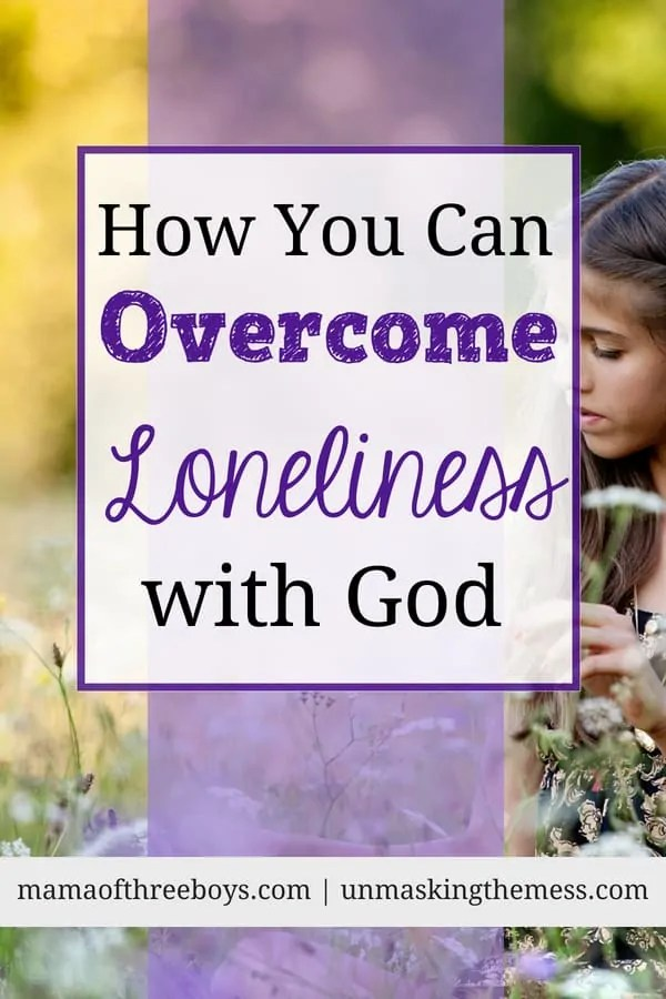 How You Can Overcome Loneliness with God. Do you feel lonely? We might feel alone and yet be surrounded by others. Knowing that God is always with us can comfort us and help overcome loneliness. #overcoming #loneliness #coping #God #howtodeal