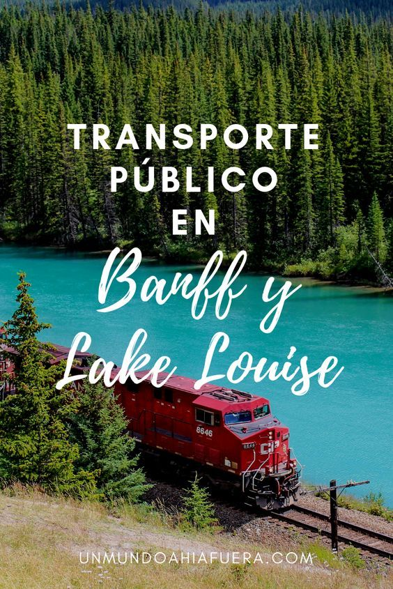 transporte publico banff lake louise