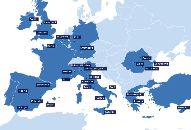 blue air mapa de rutas