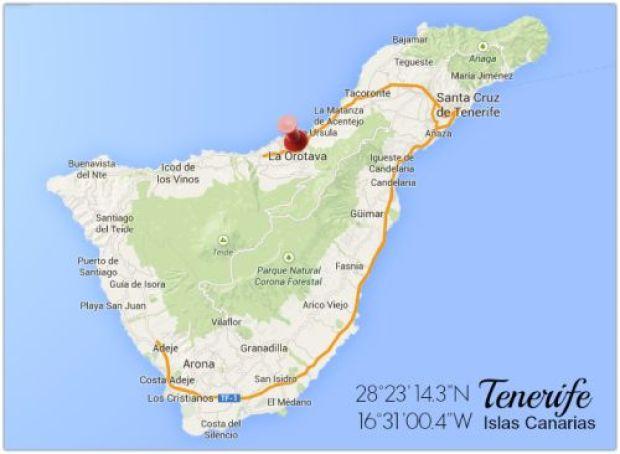 Mapa Orotava Tenerife