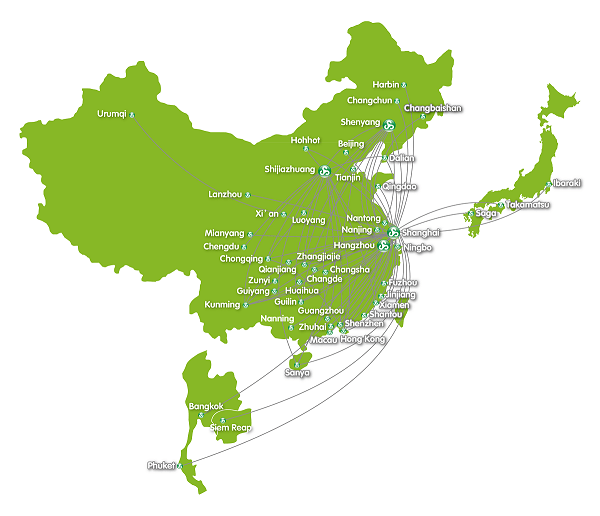 SpringAirlines Route Map