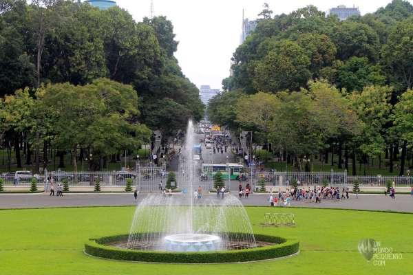 vista desde el palacio de la reunificacion