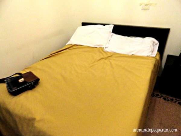 La cama del Albergo Enrica de Roma