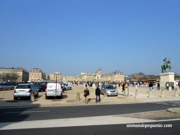 Llegando al Palacio de Versalles