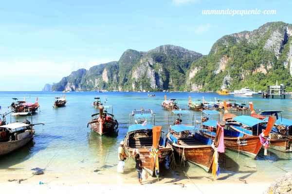 Long Tail Boat en Phi Phi