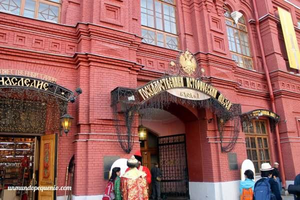 Entrada al Museo Estatal de Historia en Moscú