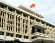 Frente del Palacio de Reunificación de HCMC
