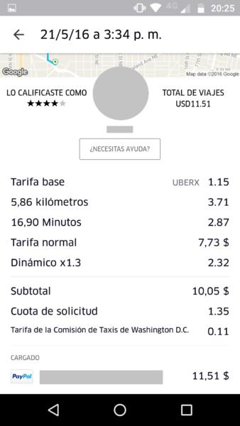 Detalle de la tarifa