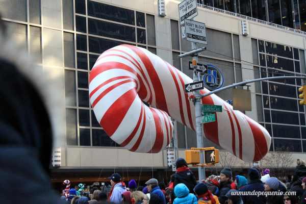 Globo de bastón de caramelo navideño