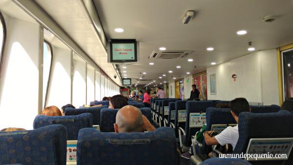 Interior del buque