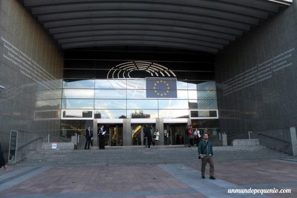 Entrada al Parlamento Europeo