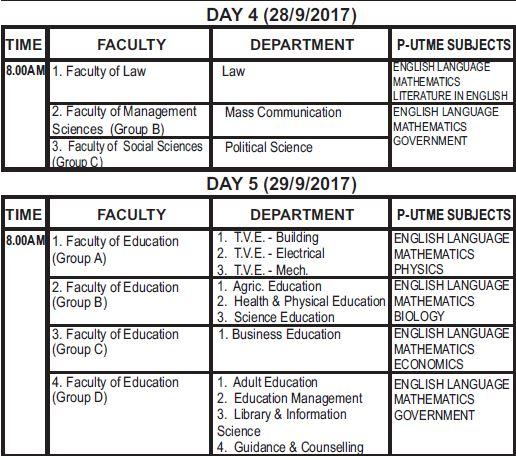 ESUT Post Utme Registration Form, Cut off Mark & Screening Date 2017/2018 -See Details