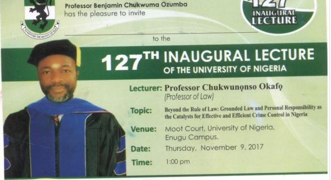 unn 127 inaugural lecture