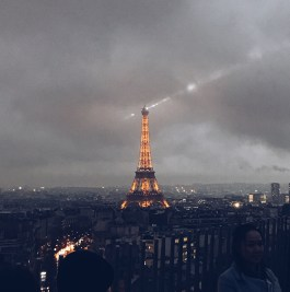 The view from L'Arc de Triomphe