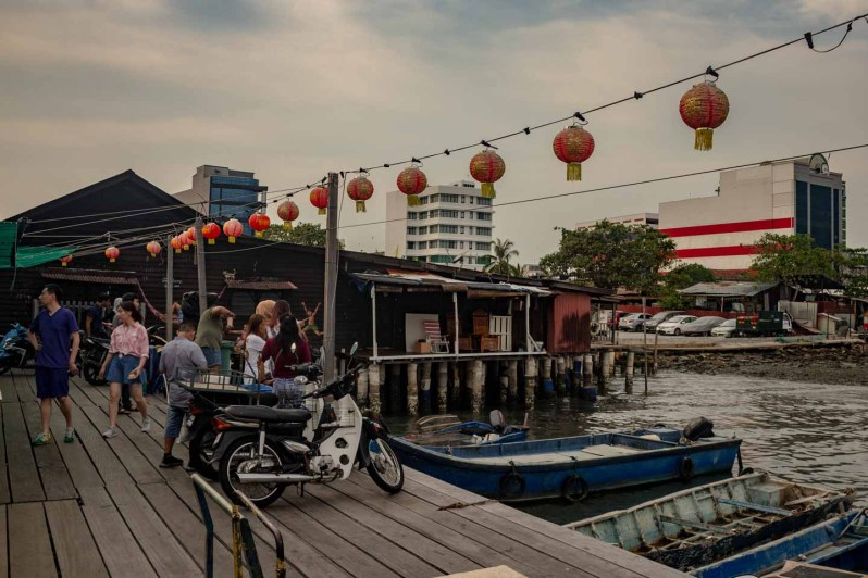 Le village sur pilotis chinois Chew Jetty à Georgetown en Malaisie