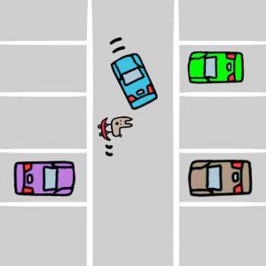 右方向変換(右バック)のコツ