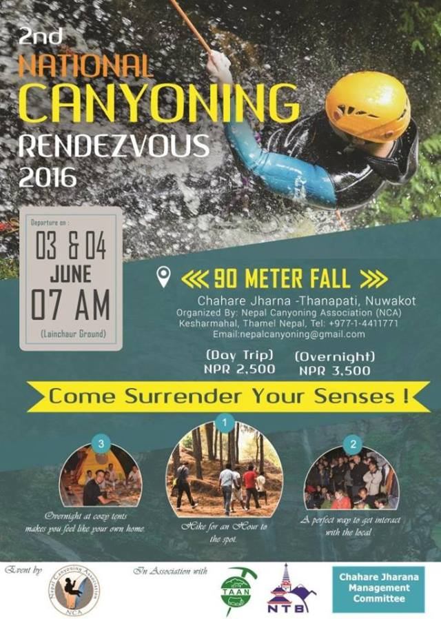 Nepal Canyoning Rendezvous (NCR 2016).