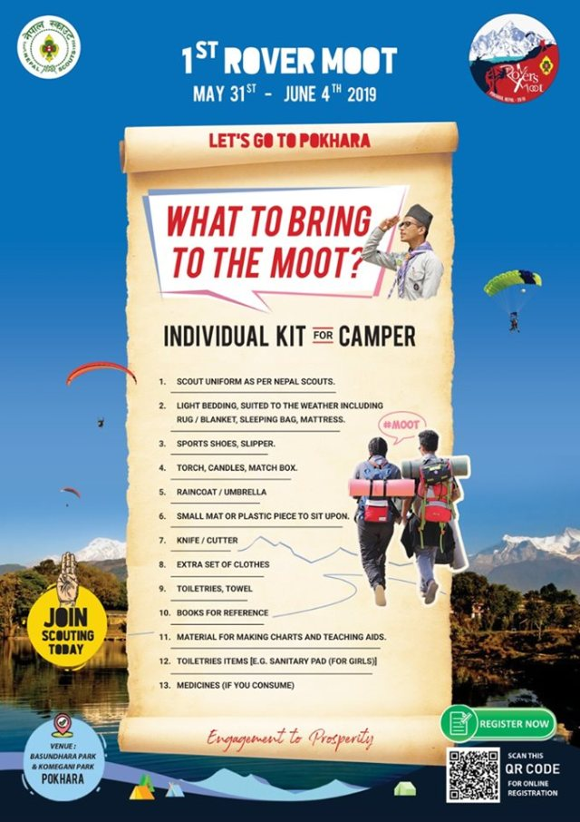 Things That You Should Bring In First Rover Moot Organized By Nepal Scouts