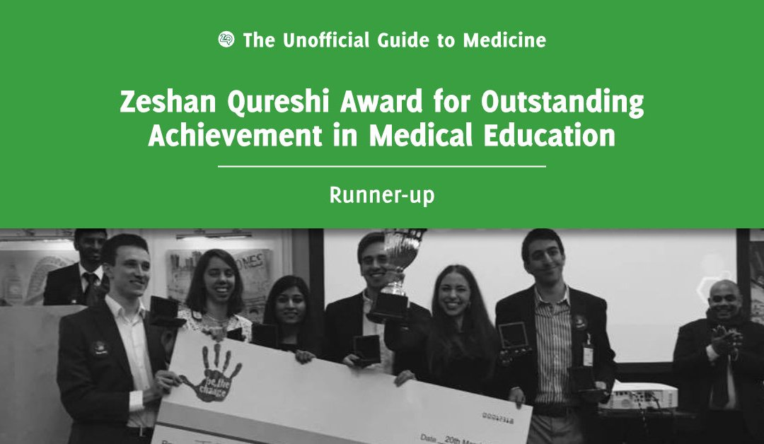 Zeshan Qureshi Award for Outstanding Achievement in Medical Education Runner-up: Richard Bartlett