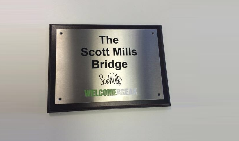 The Scott Mills Bridge closed following fire