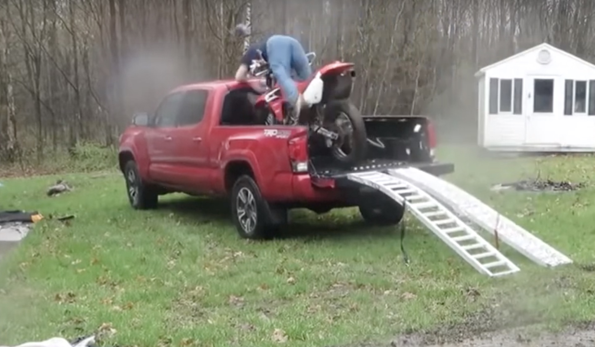 How Not To Load a Dirt-bike In a Truck