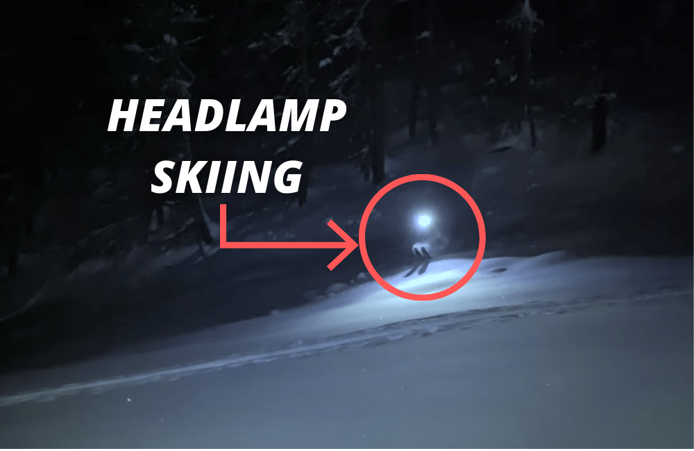 Pro Skier Bombs Backcountry Tree Lines By The Light Of His Headlamp