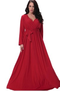 UNOMATCH WOMEN PLUS SIZE PLEATED MAXI GOWN PARTY DRESS RED ...