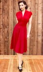 Red Dresses with Cap Sleeves for Women