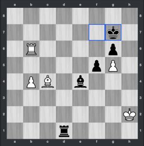 Caruana-Nakamura dopo 53. ... Rg7