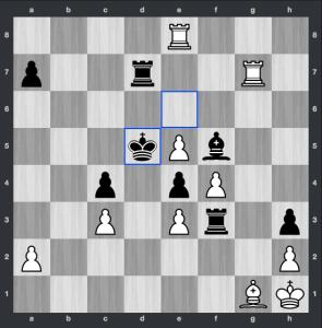 Kramnik-VachierLagrave dopo 37. ... Rd5