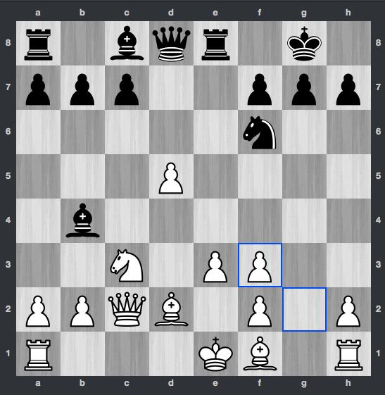 Nakamura-Carlsen dopo 11. gxf3